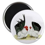 "Japanese Black White Bantams 2.25"" Magnet (10"