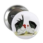 "Japanese Black White Bantams 2.25"" Button"