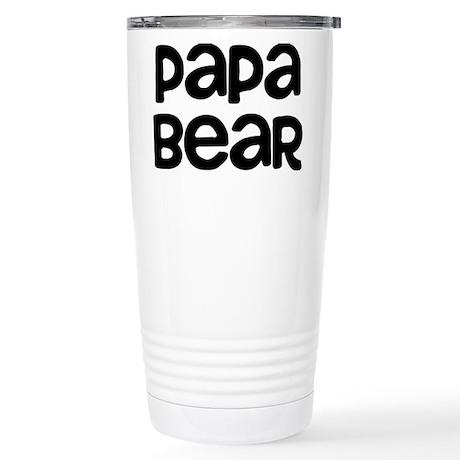 Papa Bear Stainless Steel Travel Mug
