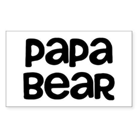 Papa Bear Sticker (Rectangle)