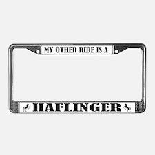 Haflinger Horse Breed License Plate Frame