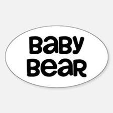 Baby Bear Sticker (Oval)