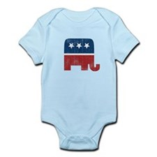 election animal elefant republican Infant Bodysuit