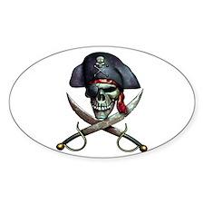 pirate skull -white Decal