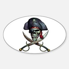 pirate skull -white Decal