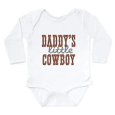 Daddy's Cowboy Long Sleeve Infant Bodysuit
