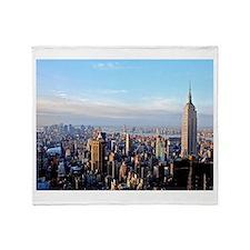 Empire State Building:Skyline Throw Blanket