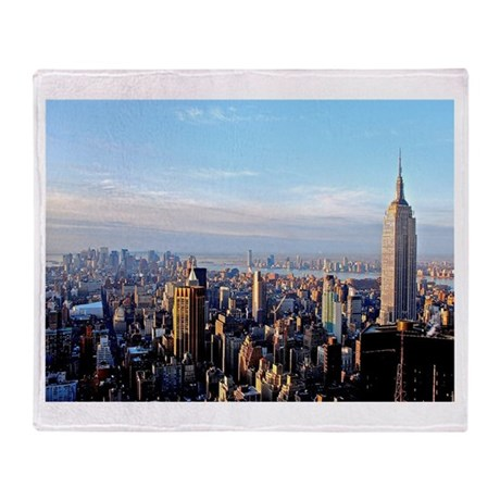 Empire State Building:Skyline Throw Blanket
