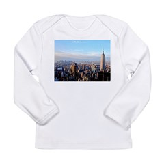 Empire State Building:Skyline Long Sleeve Infant T