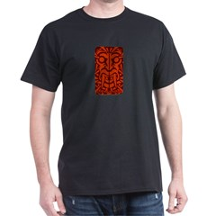 Tribal Vampire Tattoo Black T-Shirt