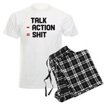 Talk - Action = Shit Men's Light Pajamas