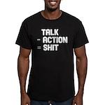 Talk - Action = Shit Men's Fitted T-Shirt (dark)