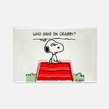 Crabby Snoopy Rectangle Magnet