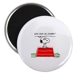 Crabby Snoopy Magnet