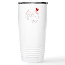 Red Thread on Light Travel Coffee Mug