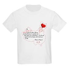 Red Thread on Light T-Shirt
