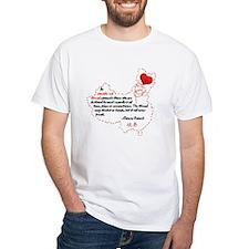 Red Thread on Light Shirt