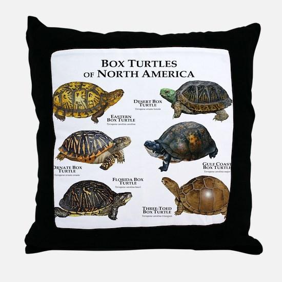 Box Turtles of North America Throw Pillow