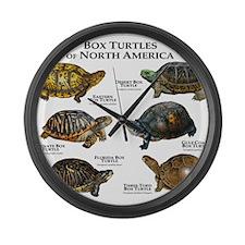 Box Turtles of North America Large Wall Clock