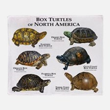 Box Turtles of North America Throw Blanket