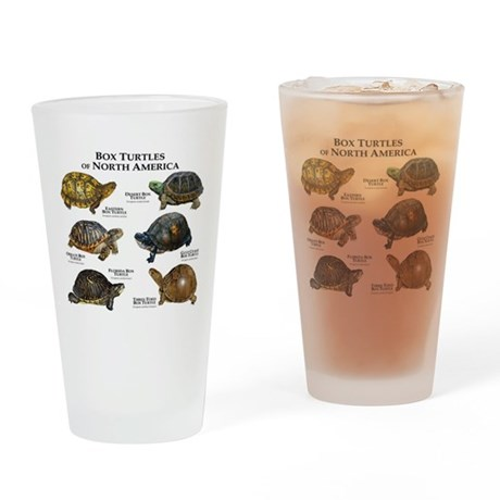 Box Turtles of North America Drinking Glass