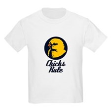 Chicks Rule Kids T-Shirt