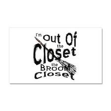 Broom Closet 2 Car Magnet 20 x 12