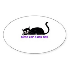 Time for a Cat Nap - Kitty Oval Decal