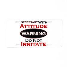Cool Secretary Aluminum License Plate