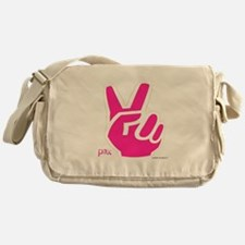 Peace Fingers Messenger Bag
