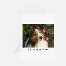 I love you Mom! Greeting Cards (Pk of 10)