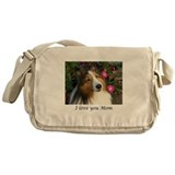 Sheltie Canvas Messenger Bags