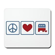 Peace Love Republicans Mousepad