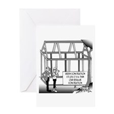 Green Construction Greeting Card