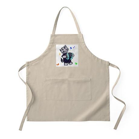 Retro Accordion Kitten BBQ Apron