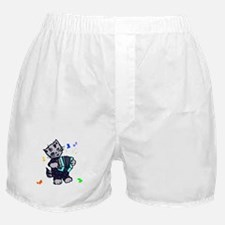 Retro Accordion Kitten Boxer Shorts