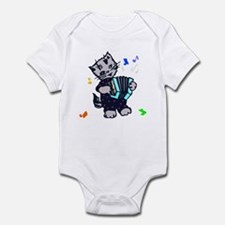 Retro Accordion Kitten Infant Bodysuit