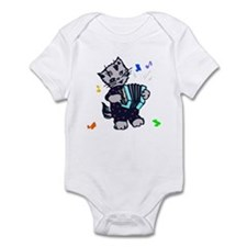 Retro Accordion Kitten Onesie