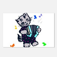 Retro Accordion Kitten Postcards (Package of 8)