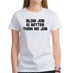 Blow job is better than no jo Women's T-Shirt