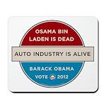 Bin Laden Dead, Auto Industry Alive Mousepad