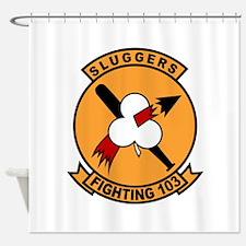 VF-103 Sluggers Shower Curtain