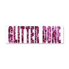 Glitter Done V Car Magnet 10 x 3