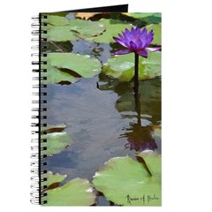 Purple Water Lily Journal