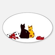 Colorful Cats Decal