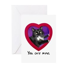 You Are Mine Cat Greeting Card