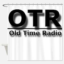OTR Old Time Radio Shower Curtain