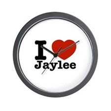 I love Jaylee Wall Clock