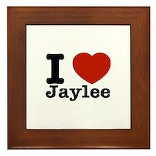 I love Jaylee Framed Tile