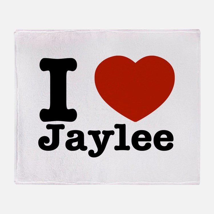 I love Jaylee Throw Blanket